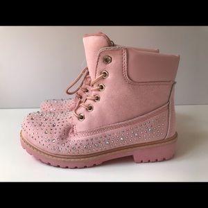 Jessica Carlyle Pink Rhinestone Boots